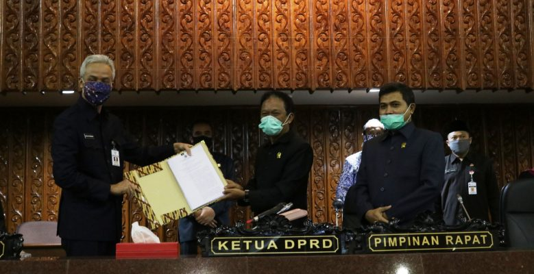 DPRD Sampaikan Rekomendasi LKPj Gubernur 2019