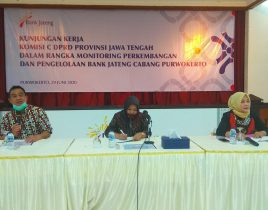 Komisi C : Pantau Capaian Pendapatan Bank Jateng Cabang Purwokerto